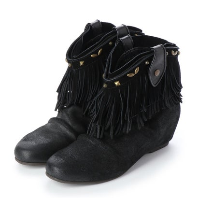 【アウトレット】シューズラウンジ shoes lounge 【本革】ショートブーツ 2563124B (ブラック)