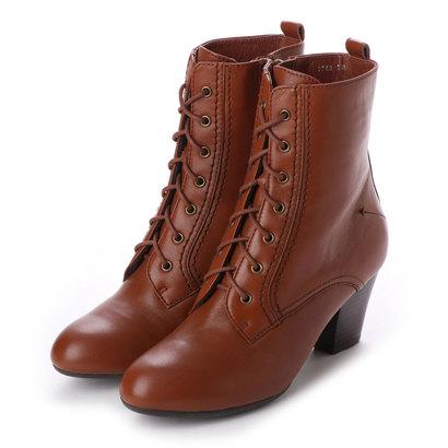 【アウトレット】シューズラウンジ shoes lounge 【本革】ショートブーツ 2517124BR (ブラウン)
