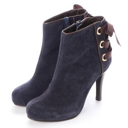 【アウトレット】シューズラウンジ shoes lounge 【本革】ショートブーツ 3538874NVS (ネイビー)