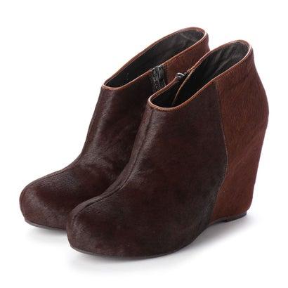 【アウトレット】シューズラウンジ shoes lounge ショートブーツ 35SAM014DBR/BR (ダークブラウン)