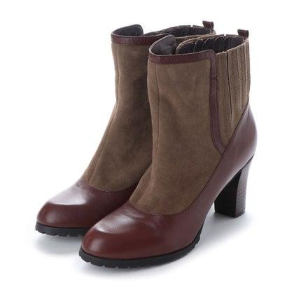 【アウトレット】シューズラウンジ shoes lounge 【本革】ショートブーツ 3641864DBR/ (ダークブラウン)