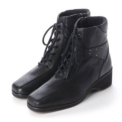 【アウトレット】シューズラウンジ shoes lounge 【本革】ショートブーツ 3999404BL (ブラック)