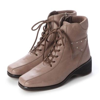 【アウトレット】シューズラウンジ shoes lounge 【本革】ショートブーツ 3999404GRY (グレー)