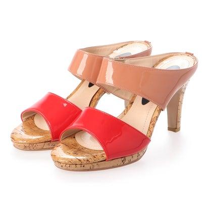 【アウトレット】シューズラウンジ shoes lounge エナメル ピンヒール サンダル 52MOD7584RED/C (レッド)