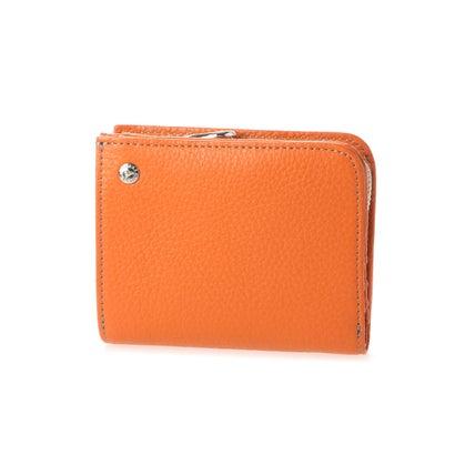 エルイーディーバイツ L.E.D.BITES COW adria 二つ折り 財布 イタリアンレザー (オレンジ)