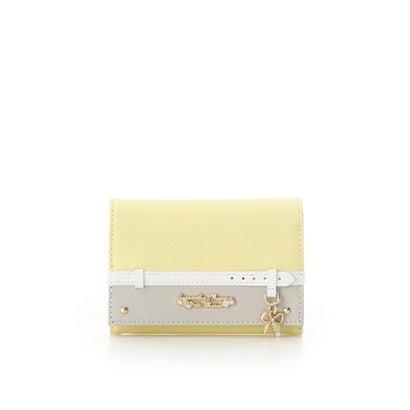 サマンサタバサプチチョイス ベルトリボンモチーフ 折財布 イエロー
