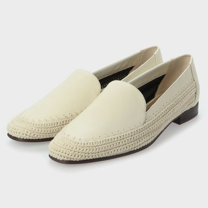 【2020 SUMMER】レザー クロッシェローファー / Leather Crochet Loafers (Chalk)