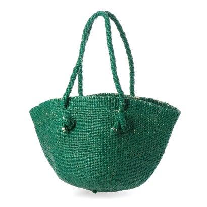 カカトゥ kakatoo あずま袋付きサイザルかごバッグ (グリーン)