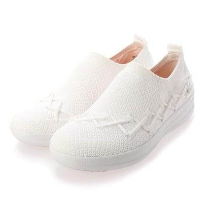 フィットフロップ fitflop CORSETTED SLIP-ON SNEAKERS (Urban White)