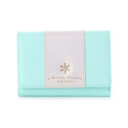 サマンサタバサプチチョイス ★雪の結晶シリーズ 折財布 ミント