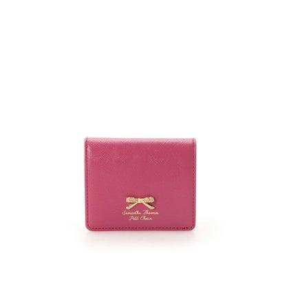 サマンサタバサプチチョイス フラワーリボンプレート(2つ折財布) フューシャピンク