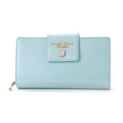 サマンサタバサプチチョイス ビジューシリーズ 折財布 ミント