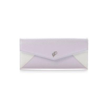 サマンサタバサプチチョイス バイカラービジューシリーズ(かぶせ長財布) ラベンダー