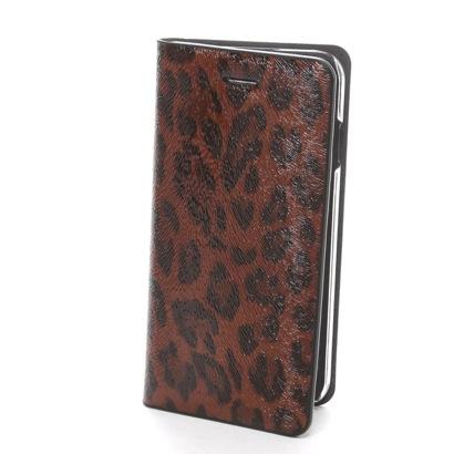 ゲイズ GAZE iPhone6 Leopard Diary ブラウン(ブラウン)