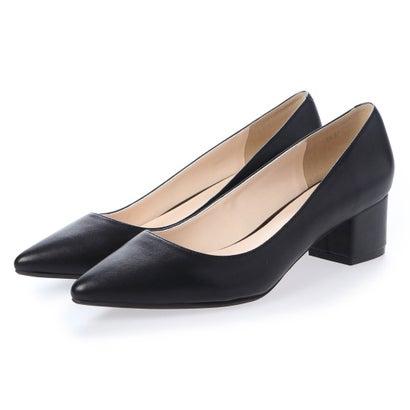 ビオラアンドエマ Viola & Emma 本革4.5cm太ヒールパンプス (ブラック)