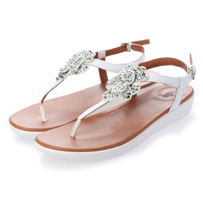 フィットフロップ fitflop TIA CORSAGE BACK-STRAP SANDALS (Urban White)