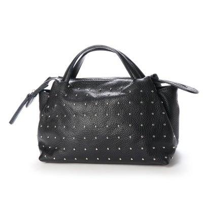【アウトレット】ヌエール nouer MARLON FIRENZE スタッズデザインハンドバッグ (ブラック)