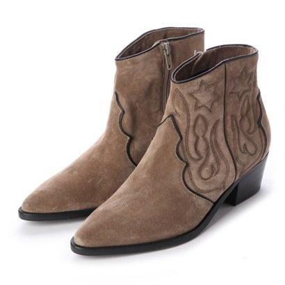 あす楽 交換 返品可能 ヌエール nouer セール商品 レディースシューズ ブーツ ブーティ アウトレット ステッチデザインウエスタンブーツ KENNELSCHMENGER 有名な ロコンド ベージュ