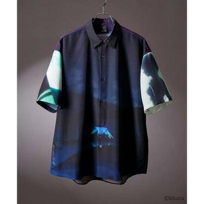 ティーケー タケオ キクチ tk.TAKEO KIKUCHI EVANGELIONコラボ コラージュシャツ (ダークネイビー)