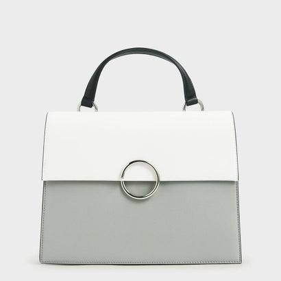【2020 SUMMER】リングディティール ラージトップハンドルバッグ / Ring Detail Large Top Handle Bag (Grey)