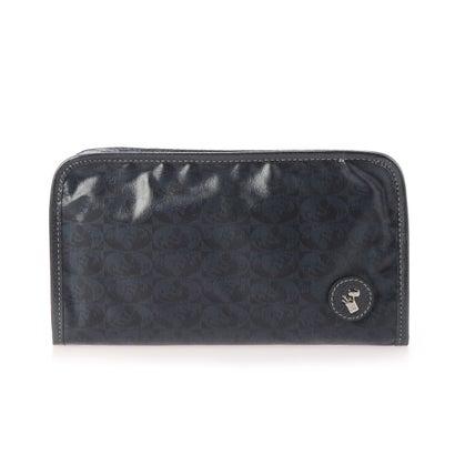 ペレボルサ PELLE BORSA 財布ショルダー (ネイビー)