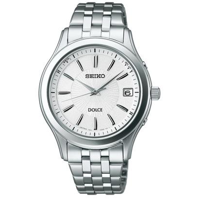 SEIKO ドルチェ ソーラー電波修正 サファイアガラス スーパークリア コーティング ユニセックス 腕時計 SADZ123【返品不可商品】