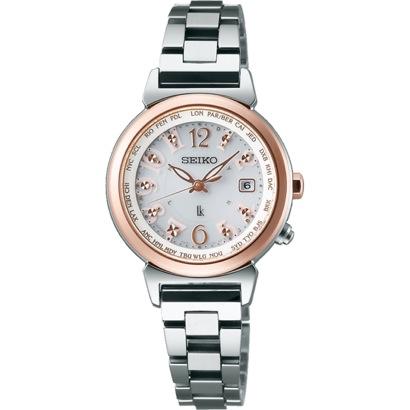 SEIKO ルキア LUKIA ワールドタイム ソーラー電波 腕時計 国産 レディース SSVV002