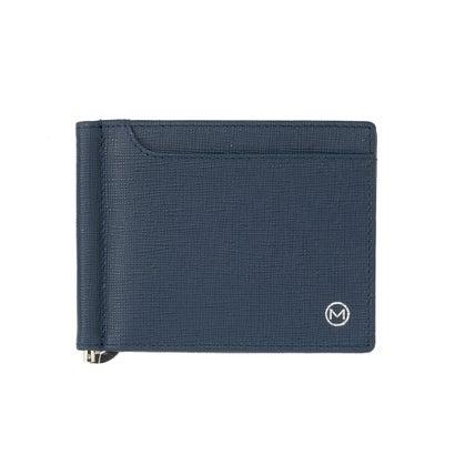 あす楽 交換 返品可能 ミラグロ ファクトリーアウトレット Milagro 財布 公式ストア ケース 2つ折り財布 ロコンド 小物 ネイビー マネークリップ サフィアーノレザー