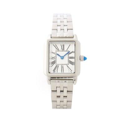 アナトリエ anatelier Intaract Watch Co. ステンレススチールバンド腕時計 (シルバー)