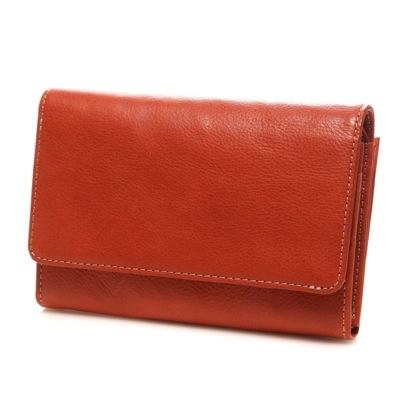 カナザワイチキュウロクイチ Kanazawa1961 ベジタブルレザー スマホ財布(レッドブラウン)