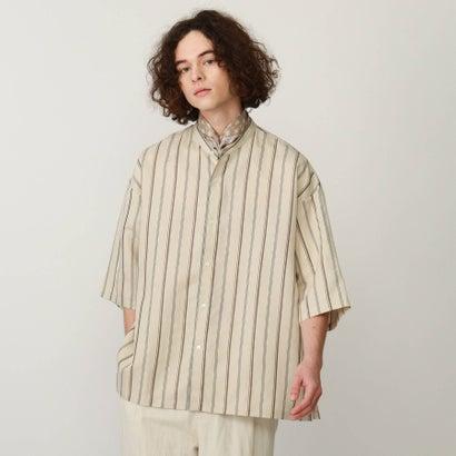 ティーケー タケオ キクチ tk.TAKEO KIKUCHI ストライプバンドカラーシャツ (ナチュラル)