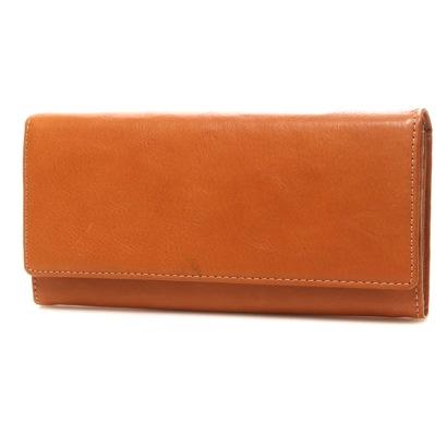 カナザワイチキュウロクイチ Kanazawa1961 ベジタブルレザー かぶせ長財布(キャメル)