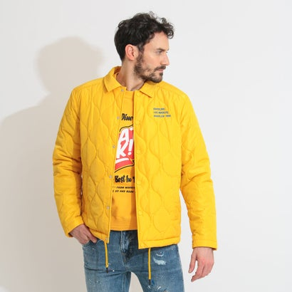 ゲス GUESS Quilted Coach Jacket (BANANA YELLOW)