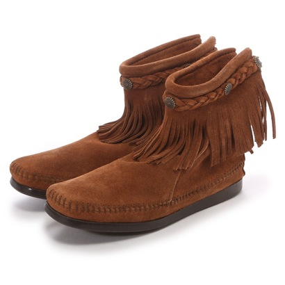 ミネトンカ MINNE TONKA HI TOP BACK ZIP BOOT (Brown)