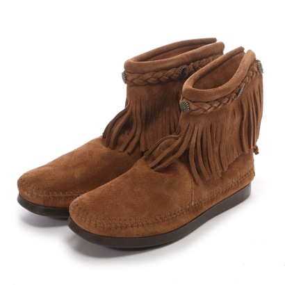 【アウトレット】ミネトンカ MINNE TONKA HI TOP BACK ZIP BOOT (Dusty Brown)
