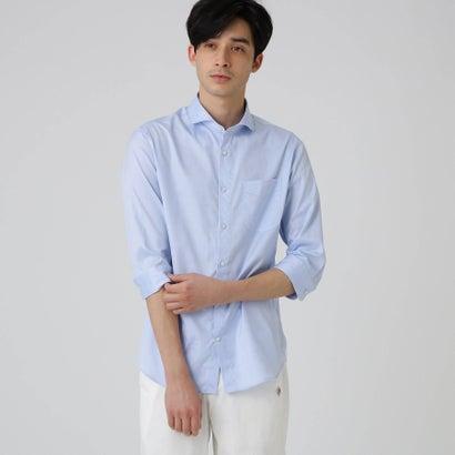 ドレステリア DRESSTERIOR 【洗える】ピンポイントオックス七分袖シャツ (ライトブルー)