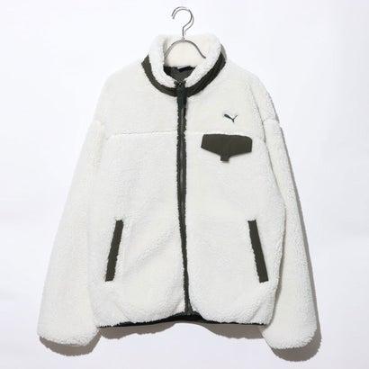 プーマ PUMA メンズ フリースジャケット ボアジャケット M 587597 (ホワイト)