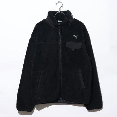 プーマ PUMA メンズ フリースジャケット ボアジャケット M 587597 (ブラック)