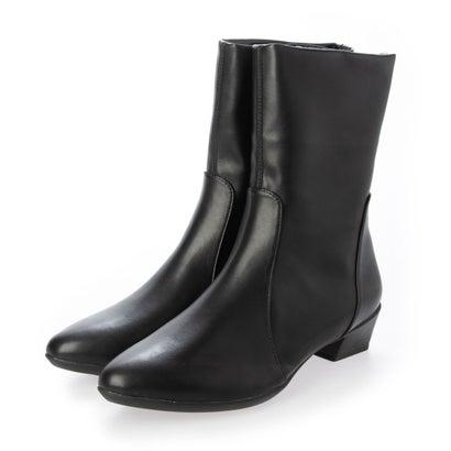 あす楽 交換 返品可能 フィットフィット fitfit レディースシューズ ロコンド ブラック 評価 再入荷 予約販売 ブーツ ブーティ ポインテッドミドルブーツ