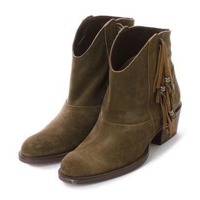 あす楽 販売 交換 返品可能 インディビジュアル INDIVIDUAL レディースシューズ ブーツ ブーティ アウトレット KHAS 新作製品、世界最高品質人気! ラボキゴシ ロコンド フリンジ付ウエスタンブーツ