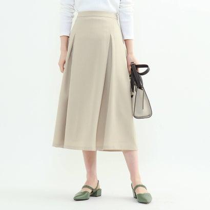 人気海外一番 返品可能 インディヴィ INDIVI レディースアパレル スカート 低価格 ライトベージュ L モノリスツイルフレアスカート ロコンド