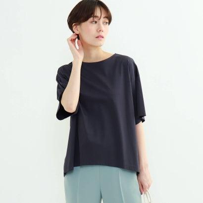 フレアスリーブルーズTシャツ INDIVI (チャコールグレー) インディヴィ