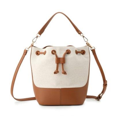 返品可能 アンタイトル UNTITLED レディースバッグ ハンドバッグ キャメル ヘリンボン巾着バッグ 購入 ロコンド 定番の人気シリーズPOINT ポイント 入荷
