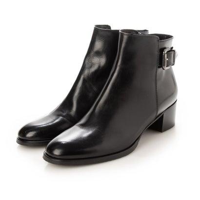 あす楽 交換 返品可能 ストアー ルカ グロッシ 国内在庫 LUCA GROSSI ロコンド ブーティ ブラック アンクルベルトミドルヒールブーツ レディースシューズ ブーツ
