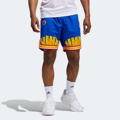 あす楽 交換 新作通販 返品可能 アディダス adidas バスケットボール バスケットボールウェア ロコンド エリック エマニュエル マクドナルド ブルー Shorts レトロ Eric Reverse ショーツ Retro リバース Emanuel McDonald's 格安 価格でご提供いたします