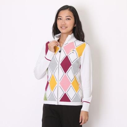 【アウトレット】マンシングウェア Munsingwear ゴルフセーター SL4058 (ホワイト)