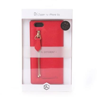 エスエルジーデザイン SLG Design iPhone6s/6 Saffiano Zipper Case(レッド)