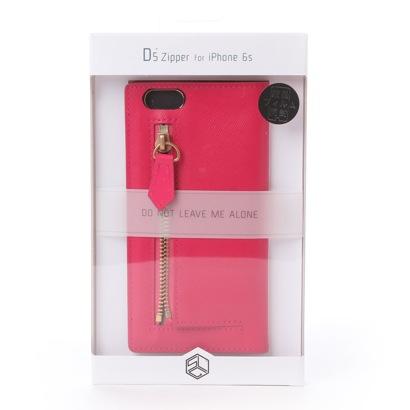 エスエルジーデザイン SLG Design iPhone6s/6 Saffiano Zipper Case(ホットピンク)