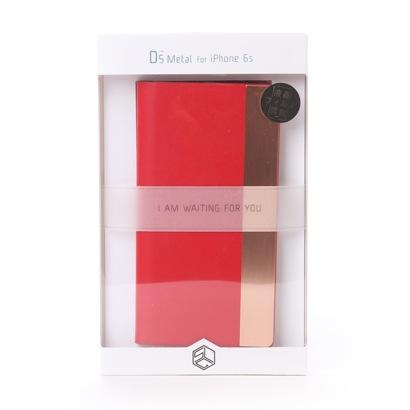 エスエルジーデザイン SLG Design iPhone6s/6 Calf Skin Metal Case(レッド)