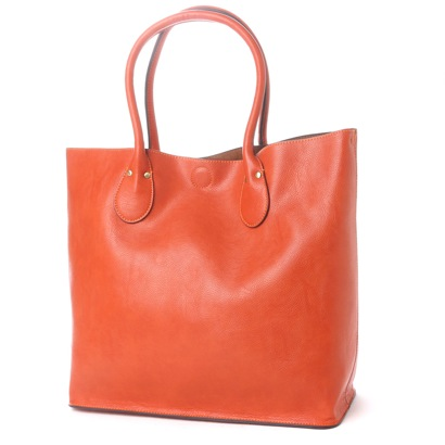 オティアス Otias 2WAYシュリンクレザータイプ合皮トートバッグ/取り外し可能なバッグインバッグ付き(OR)